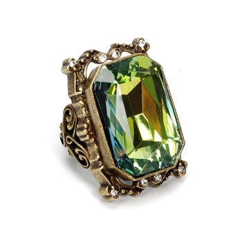 Grand Octagon Crystal Ring OL_R436 - sweetromanceonlinejewelry
