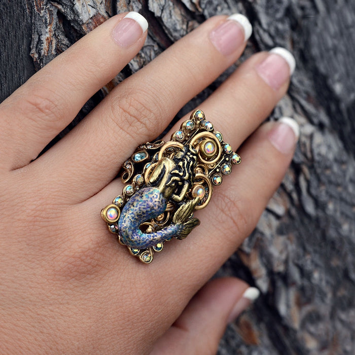 Mermaid Sea Life Ring - sweetromanceonlinejewelry