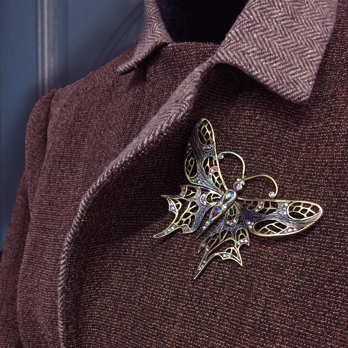Art Nouveau Butterfly Pin P128