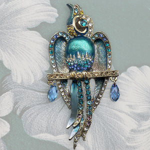 Art Deco Macaw Parrot Pin Brooch