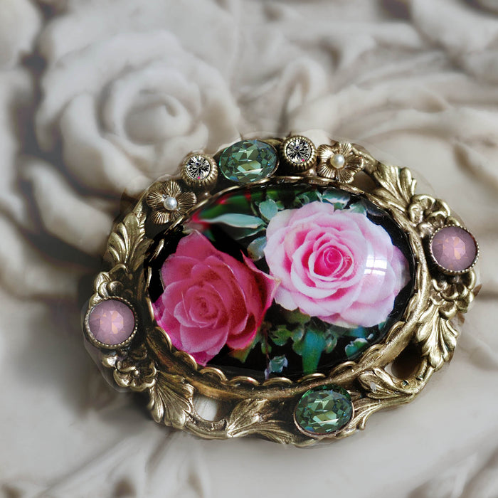 Vintage Roses Pin P330-R - sweetromanceonlinejewelry