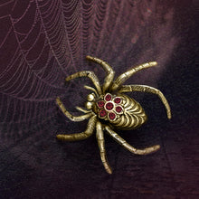 Load image into Gallery viewer, Creepy Spider Pin P651 - sweetromanceonlinejewelry