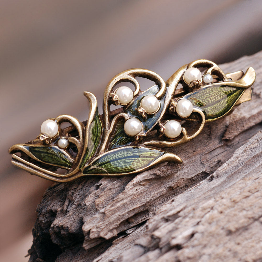 Lily of the Valley Hair Barrette B533