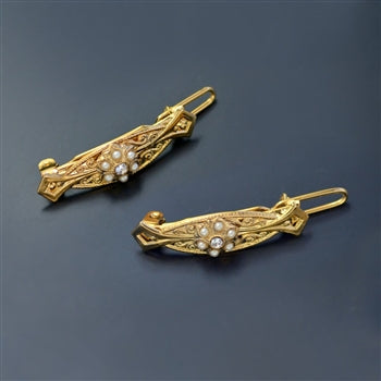 Little Girls Barrettes Pair B557