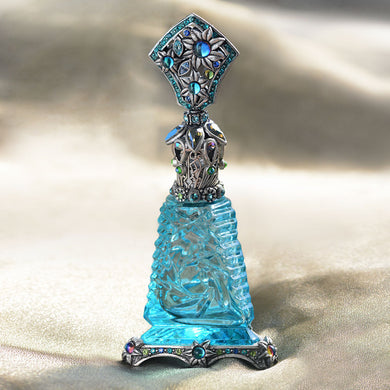 Art Deco Blue Vintage Perfume Bottle BOT705