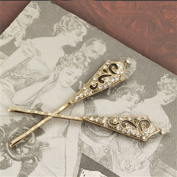Victorian Tapered Bobby Pins BP217 - sweetromanceonlinejewelry