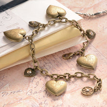 Load image into Gallery viewer, Heart Locket Charm Bracelet