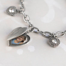 Load image into Gallery viewer, Heart Locket Charm Bracelet BR0214