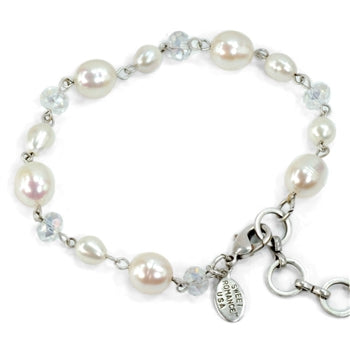 Pearls and Crystal Bracelet - sweetromanceonlinejewelry