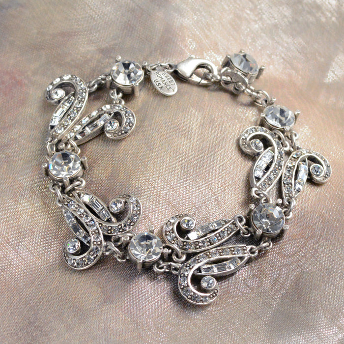 Art Deco Vintage Hollywood Crystal Bracelet BR1102
