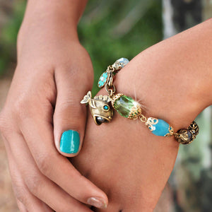 Something Fishy Bead Bracelet BR1202 - sweetromanceonlinejewelry