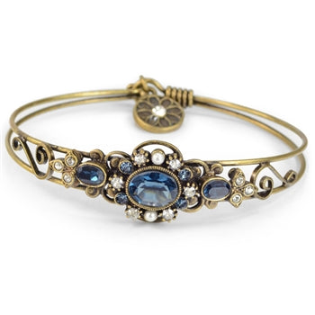 Stackable Victorian Jeweled Bangle Bracelet - sweetromanceonlinejewelry