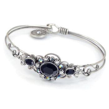 Victorian Jeweled Bangle Bracelet