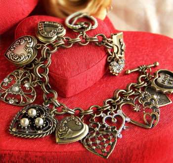 All My Love - Heart Charm & Locket Bracelet BR214