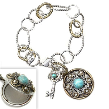 Locket & Key Bracelet