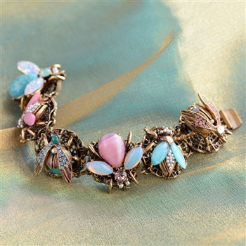 Pastel Jeweled Bee Bracelet BR310-PA