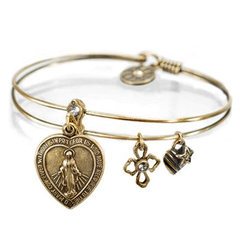 Faith (Lord's Prayer) Bangle Bracelet BR376 - sweetromanceonlinejewelry