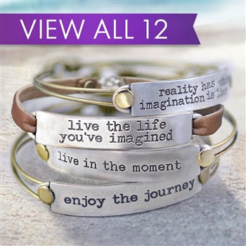 Inspirational Message Bar Bracelets - sweetromanceonlinejewelry