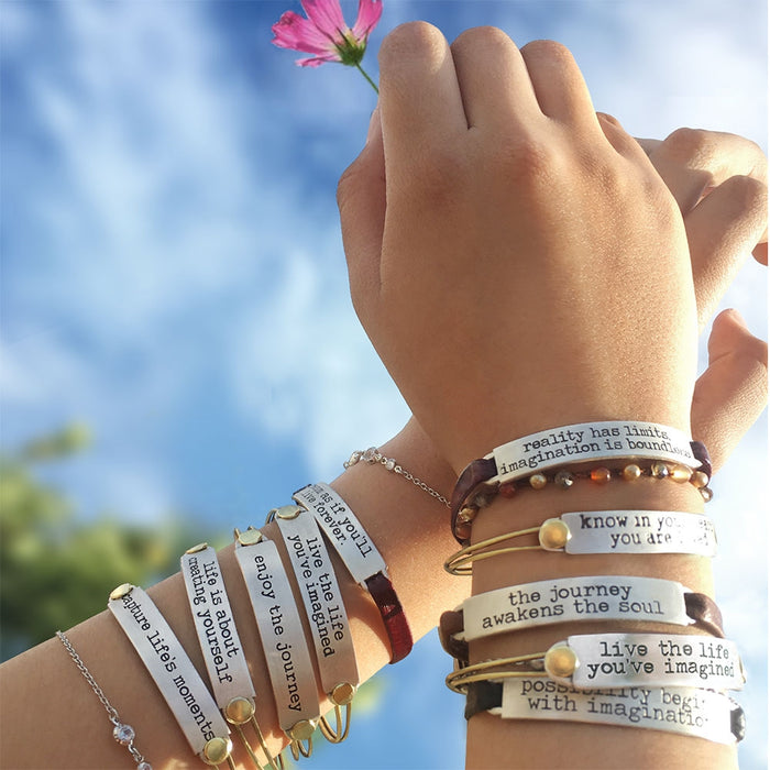 Inspirational Message Bar Bracelets