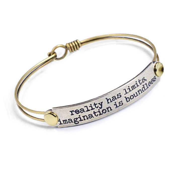 Reality has limits, imagination is boundless Inspirational Message Bracelet BR411