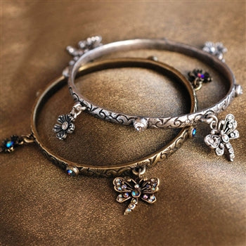 Dragonfly Bangle Bracelet BR427 - sweetromanceonlinejewelry