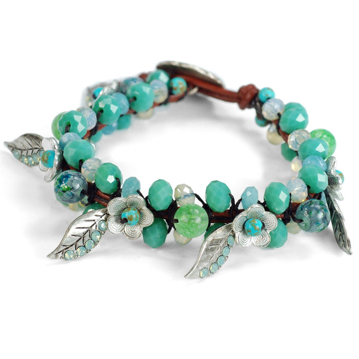 Yoga Meditation Green Beaded Bracelet BR446-GR