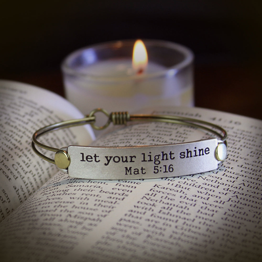 Let your light shine Bible Verse Bracelet BR500