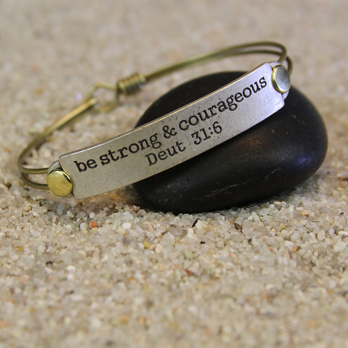 Be strong and courageous Bible Verse Bracelet BR504