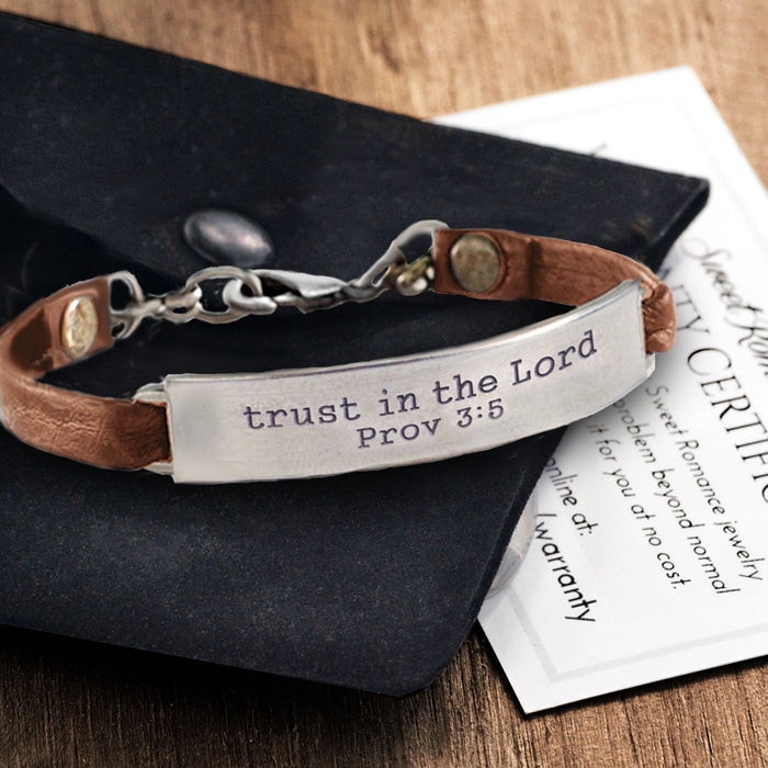 Trust in the Lord Bible Verse Bracelet BR505