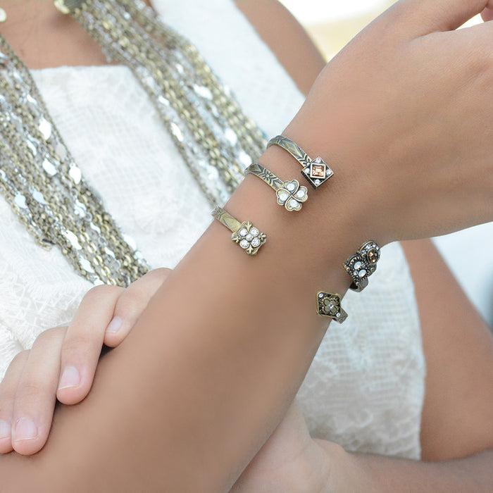 Skinny Stacking Cuff Bracelet Sweet Romance BR530 - sweetromanceonlinejewelry