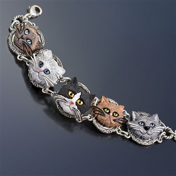 Cat Lovers Bracelet BR575 - sweetromanceonlinejewelry