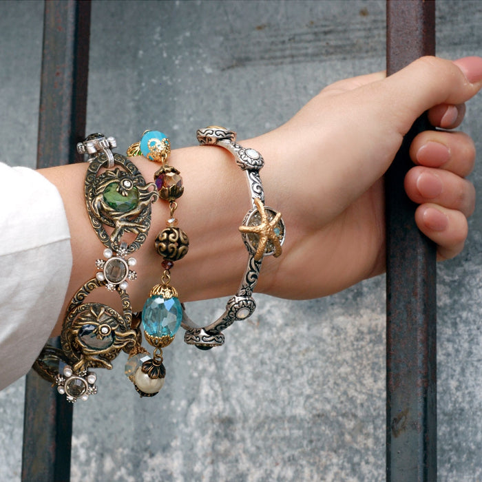 Set Of 3 Treasures of the Sea Bracelets - sweetromanceonlinejewelry