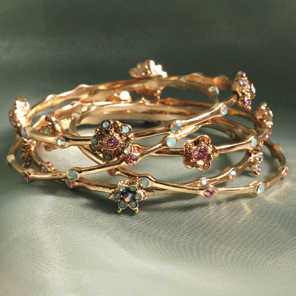 Retro Bangle Bracelet Set of 5 BR720 - sweetromanceonlinejewelry