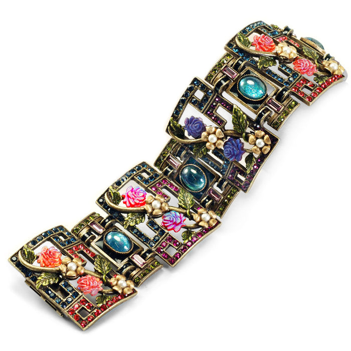 Art Deco Chinese Rose Screen Vintage Bracelet BR999