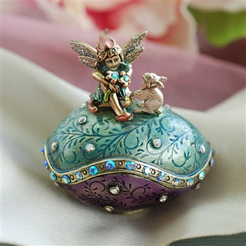 Easter Egg Fairy and Rabbit Miniature Box BX24 - sweetromanceonlinejewelry