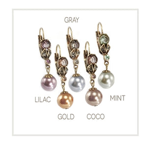 Classic Vintage Pearl Earrings in Colors