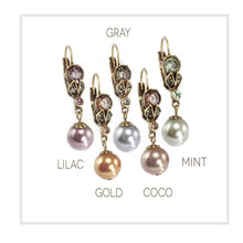 Load image into Gallery viewer, Classic Vintage Pearl Earrings in Colors