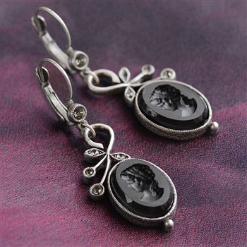 Florentine Intaglio Earrings - sweetromanceonlinejewelry