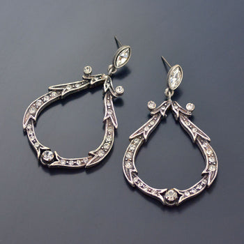 Crystal Loop Earrings E1154