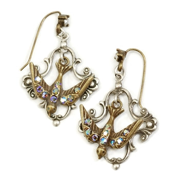Little Flying Bird Earrings E1171 - sweetromanceonlinejewelry