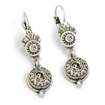 Victorian Rosette Earrings E1172 - sweetromanceonlinejewelry