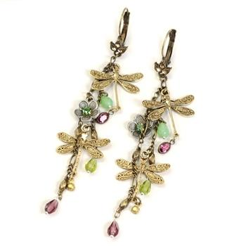Dragonflies Dangles Earrings E1189 - sweetromanceonlinejewelry