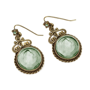 Chevee Intaglio Earrings E1191 - sweetromanceonlinejewelry