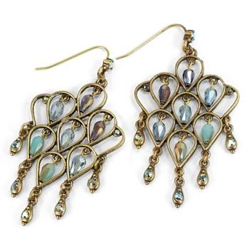 Retro Trellis Earrings E1221 - sweetromanceonlinejewelry