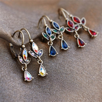 Swarovski Crystal Dainty Teardrop Earrings