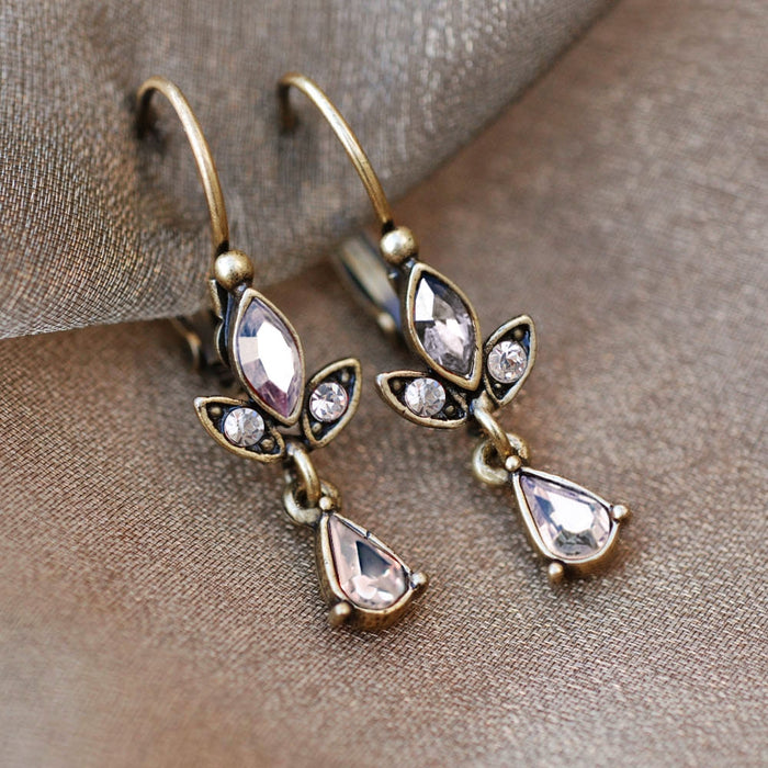 Swarovski Crystal Dainty Teardrop Earrings E1244 - sweetromanceonlinejewelry