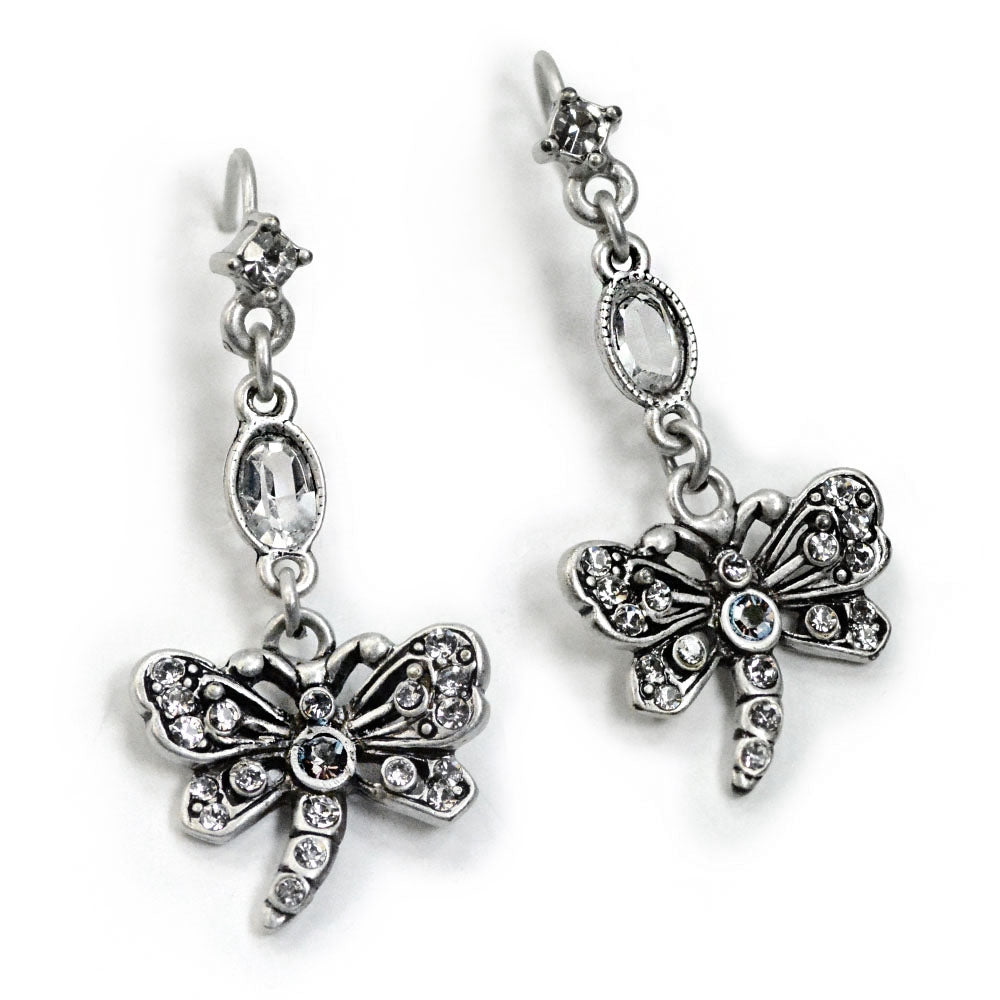 Little Dragonfly Crystal Earrings