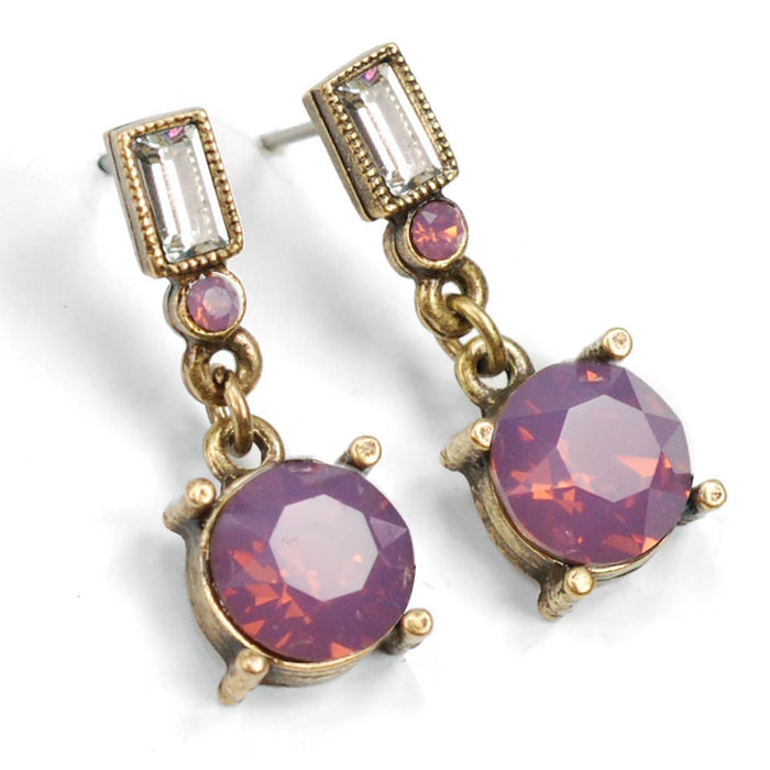 Crystal Orb Earrings E1252 - LO - Cyclamen