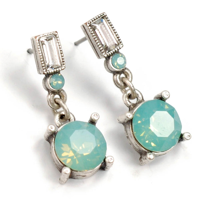 Crystal Orb Earrings E1252 - PO - Pacific Opal