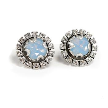 Crystal Halo Earrings E1256